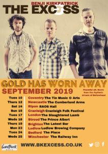 Tour poster Benji Kirkpatrick & the Excess